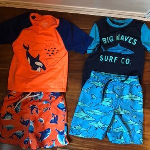 Other - Bathing suit Bundle 3T Bottoms 4T tops